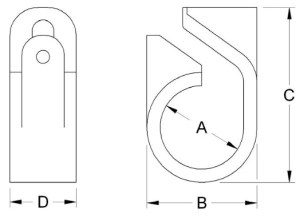 Afumex-Telcleat-385-Series-Cable-Cleat-Diagram