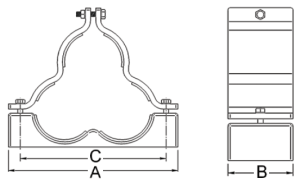 BICON-Prysmian-Aluminium-Orion-Cable-Cleat-Shaped-376SR-376SE-Series