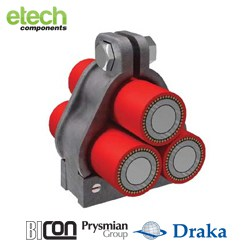 Prysmian BICONLibra Cleat - Trefoil Cable Cleat 376AC Series