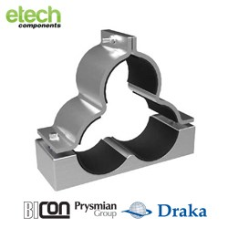 Prysmian BICONOrion Cleat – Shaped Trefoil Cable Cleat