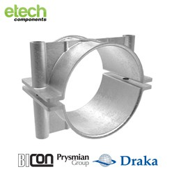 BICON-Prysmian-Draka-Cast-Iron-Two-Bolt-Cable-Cleat-370CG-Series