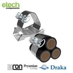 Prysmian BICONMulticleat/ Multistrap System - Trefoil Cable Cleat