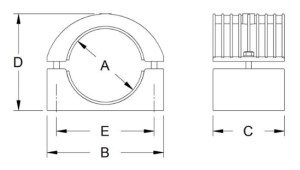 Heavy-Duty-Two-Bolt-Cleat-Aluminium-370-Series-Diagram