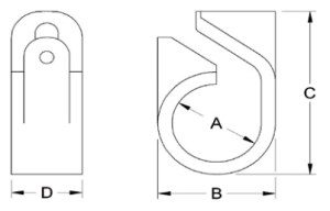 Telcleat-385-Series-Single-Way-Cleat-Diagram