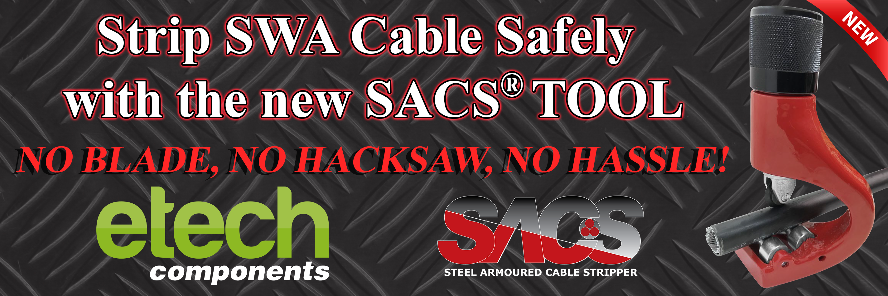 SACS Tool - Steel Wire Armoured Cable Stripping Tool - SWA Cable Stripper