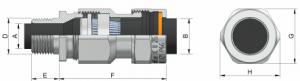 E1WF-Al Ex d IIC Ex e II Cable Gland 455AA Series technical