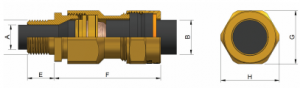 E1XF Ex d IIC - Ex e II Cable Gland 473AA Series technical