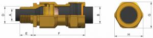 E1XF (NPT) Ex d IIC - Ex e II Cable Gland 473NP Series technical