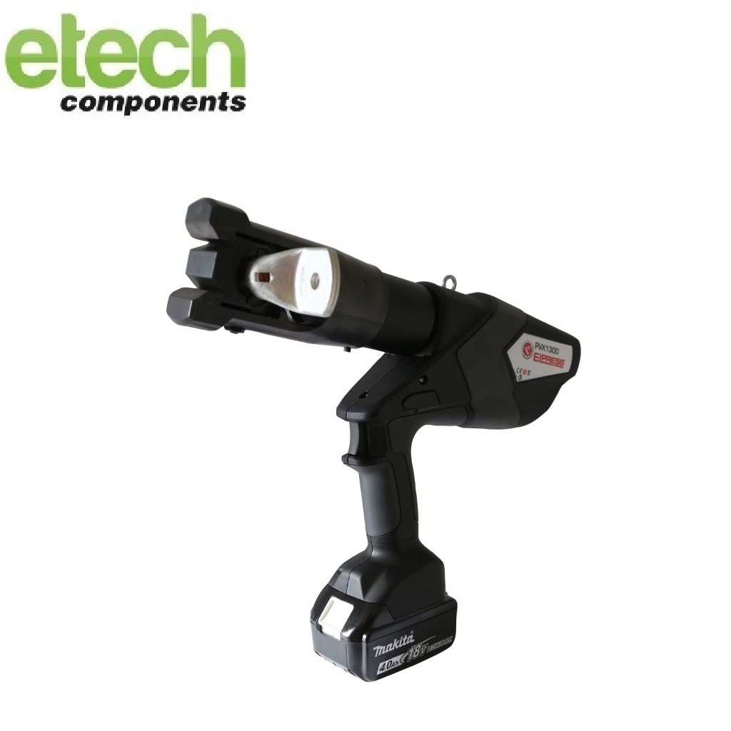 Elpress Crimp Tool PVX1300 for Cu Terminals (Range 10-400mm²), Al Terminals and Connectors (Range 10-400mm²) and C-sleeves (Range 6-120mm²)