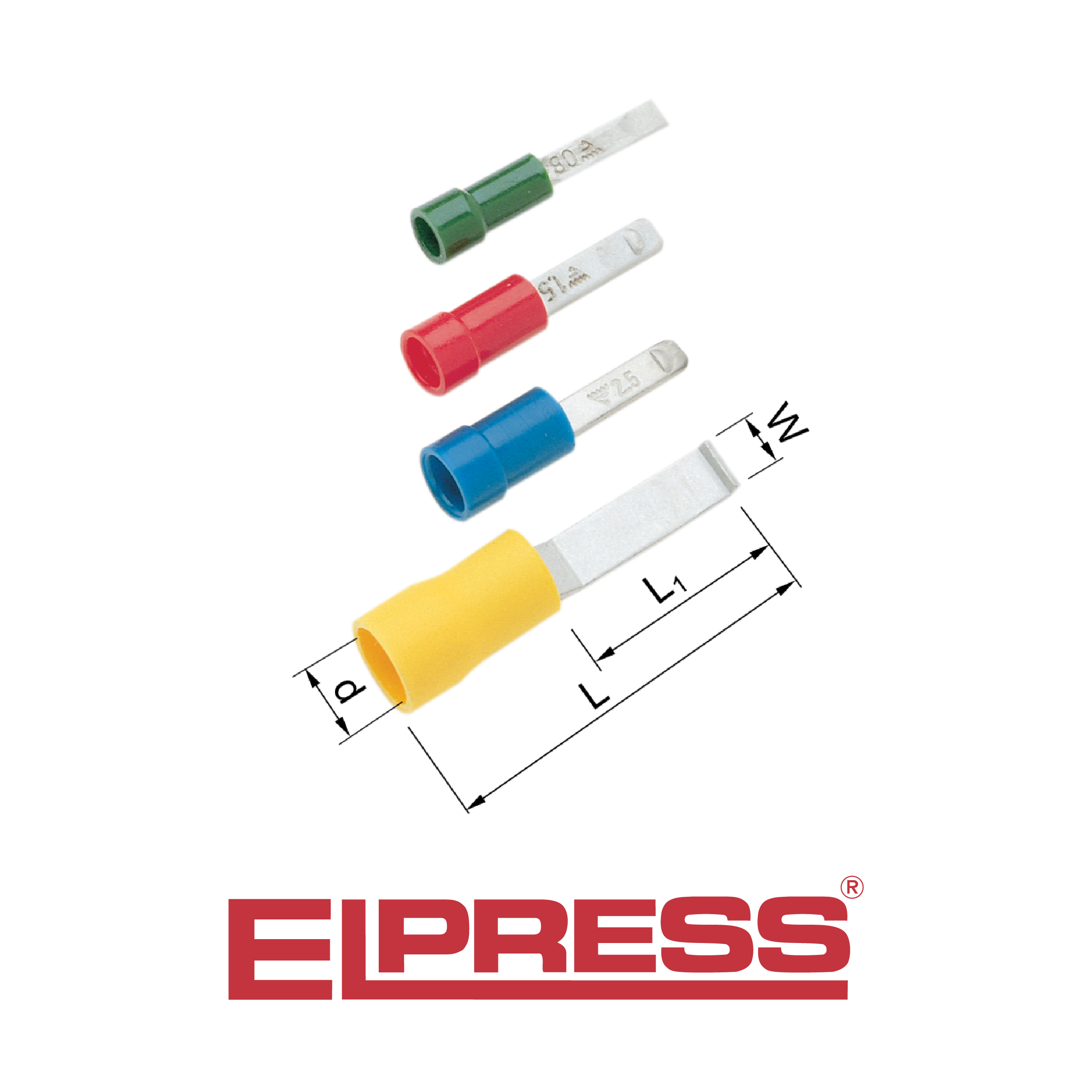 Elpress Pre Insulated Blade Terminals 0 25 6mm 178 Halogen