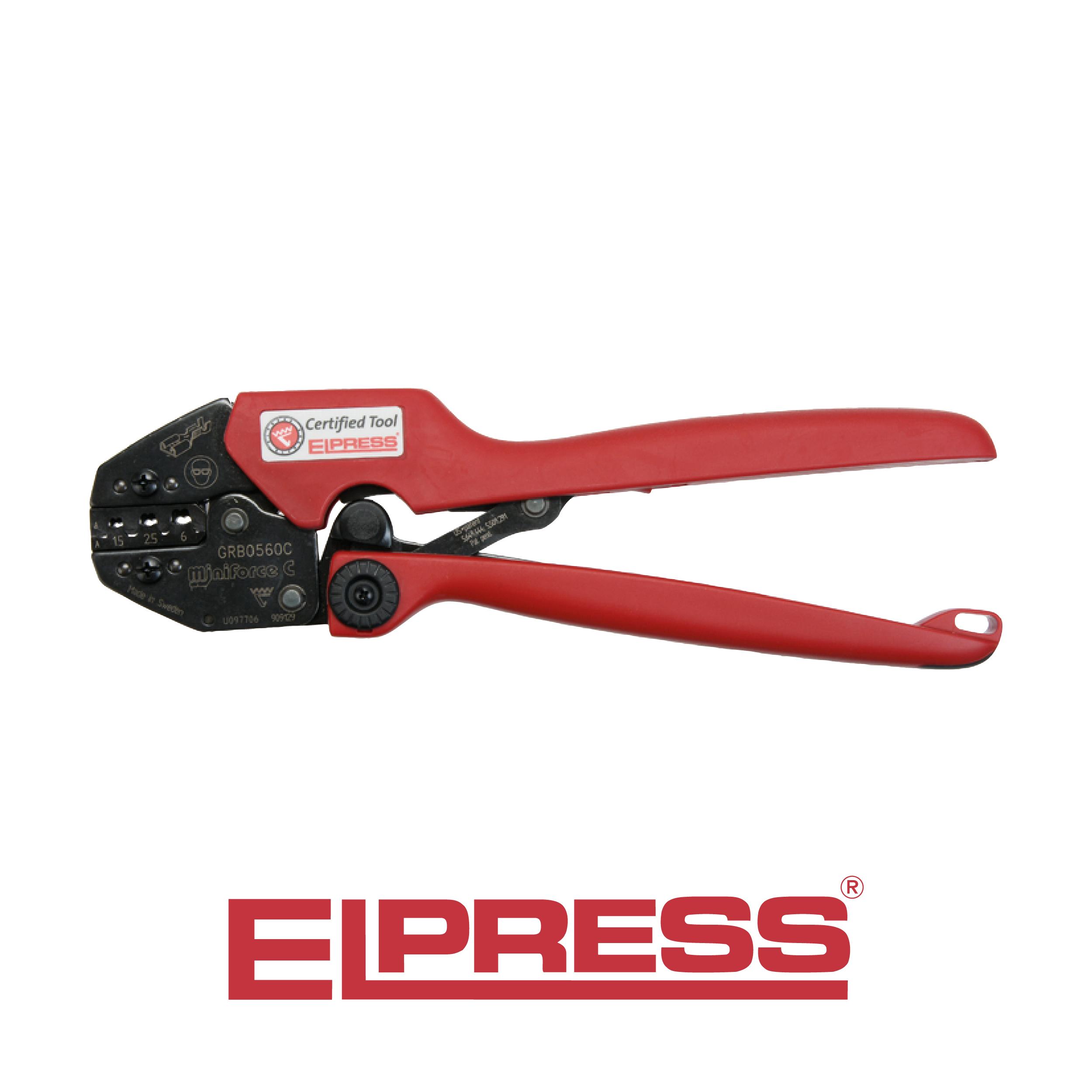 elpress miniforce crimp tool grb0560c range 0 5 6mm e tech components. Black Bedroom Furniture Sets. Home Design Ideas