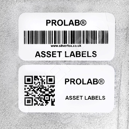 Silver Fox Prolab Asset Thermal Labels Application