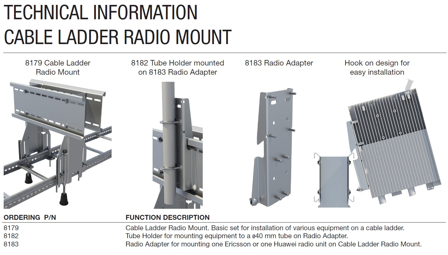 Cue Dee Cable Ladder Radio Mount