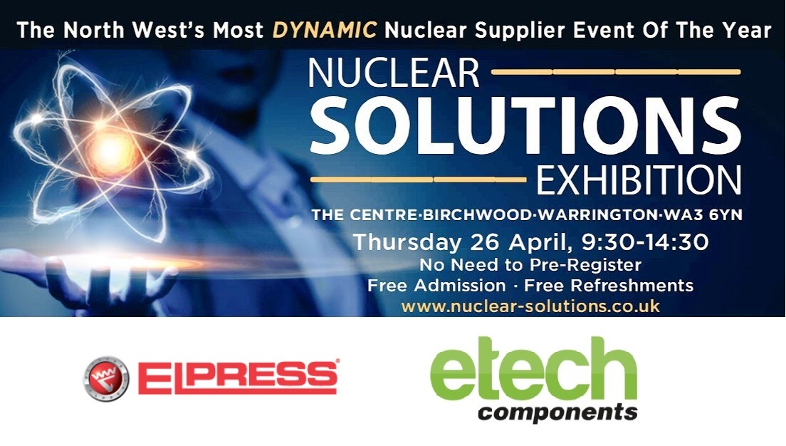 E-Tech will be exhibiting at the Nuclear Solutions Exhibition