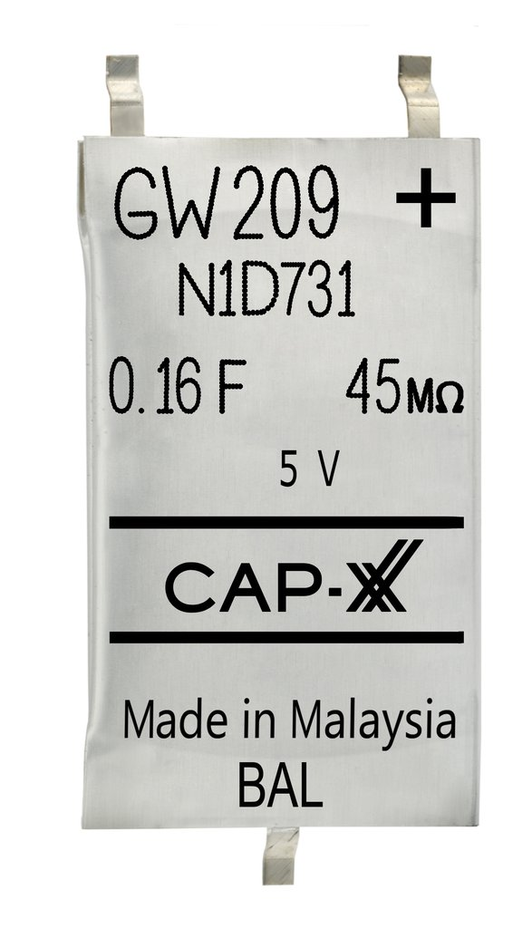 CAP-XX Prismatic Supercapacitors