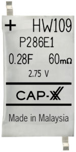 CAP-XX Thinline Supercapacitors H-series - CAP-XX HA, CAP-XX HZ, CAP-XX HW