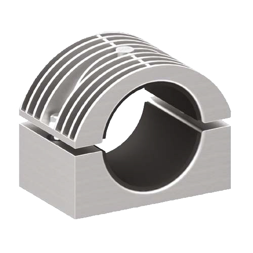 BICON-Prysmian-Draka-Heavy Duty Two Bolt Cable Cleat (Aluminium) 370 Series