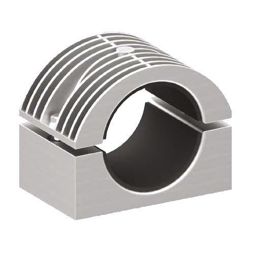 Prysmian BICON Single Way Heavy Duty Two Bolt Cleat 370HD Series (Aluminium) (370HD01, 370HD02, 370HD03, 370HD04, 370HD05, 370HD06)