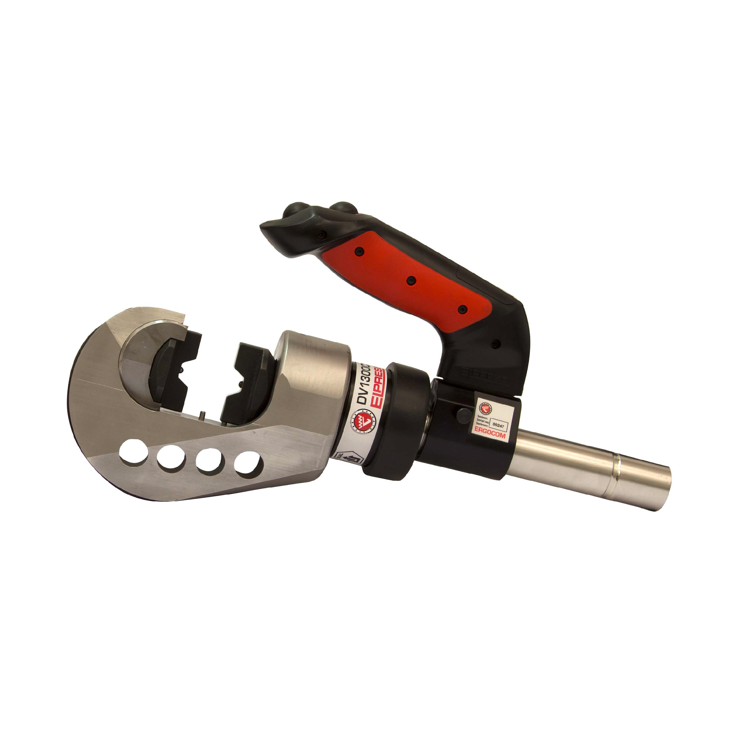 Elpress Crimp Tool DV1300C2 C-fork type Head for Cu (Range 10-400mm²) and C-sleeves up to 120 mm²