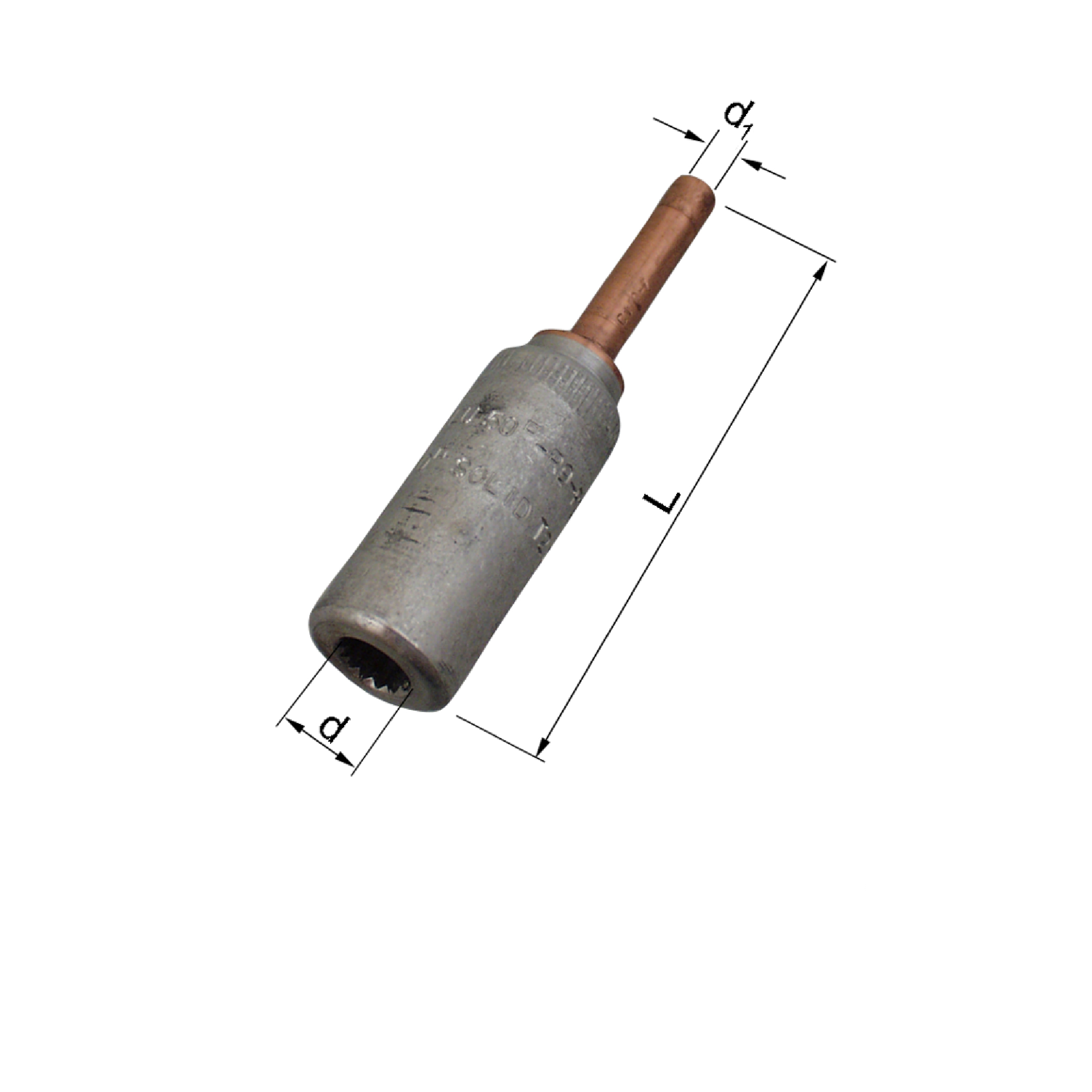 Elpress AKS Transition Connectors for Al to solid Cu Conductors (16-95mm² to 10mm²) AKS25-10S, AKS50-10S