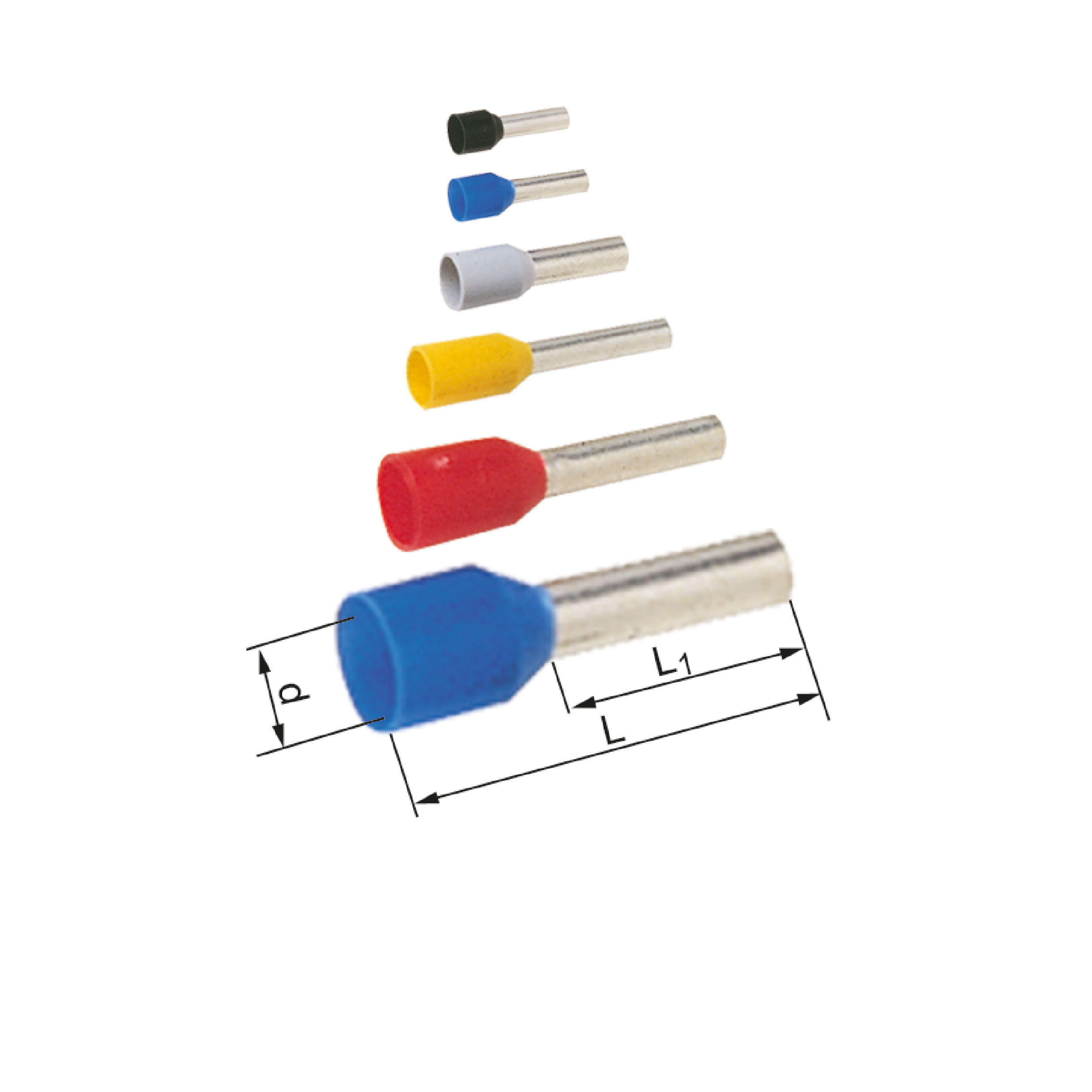 Elpress Pre-Insulated End Terminals for short-circuit proof cable (1.5-16mm²) (A4-10ETDXL, A6-12ETDXL, A10-12ETDXL)