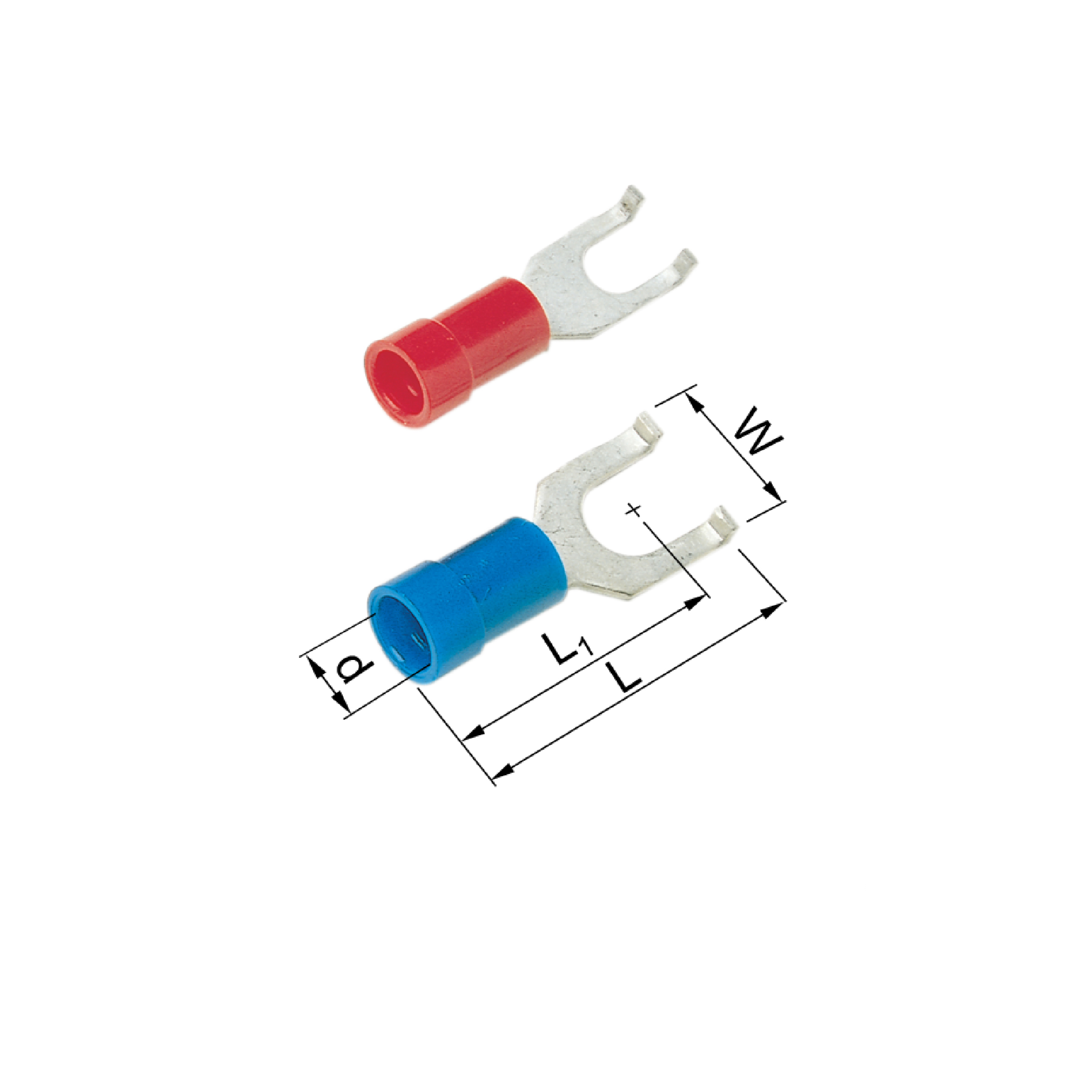Elpress Pre-Insulated Flanged Fork Terminals - Halogen Free (0.5-2.5mm²) A1537GB, A1543GB, A2543GB, A2553GB