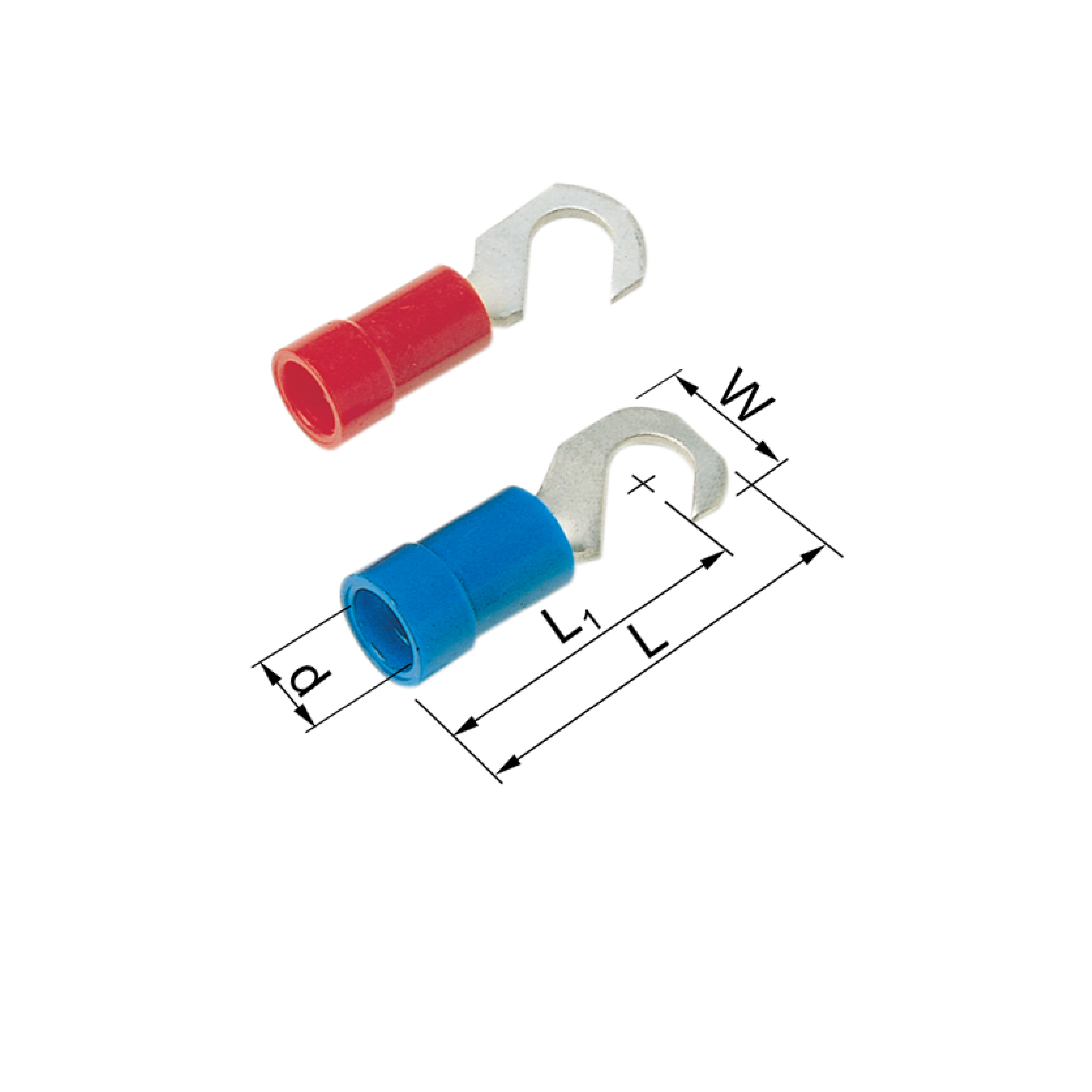 Elpress Pre-Insulated Hook Terminals - Halogen Free (0.5-2.5mm²) A1543K, A2543K
