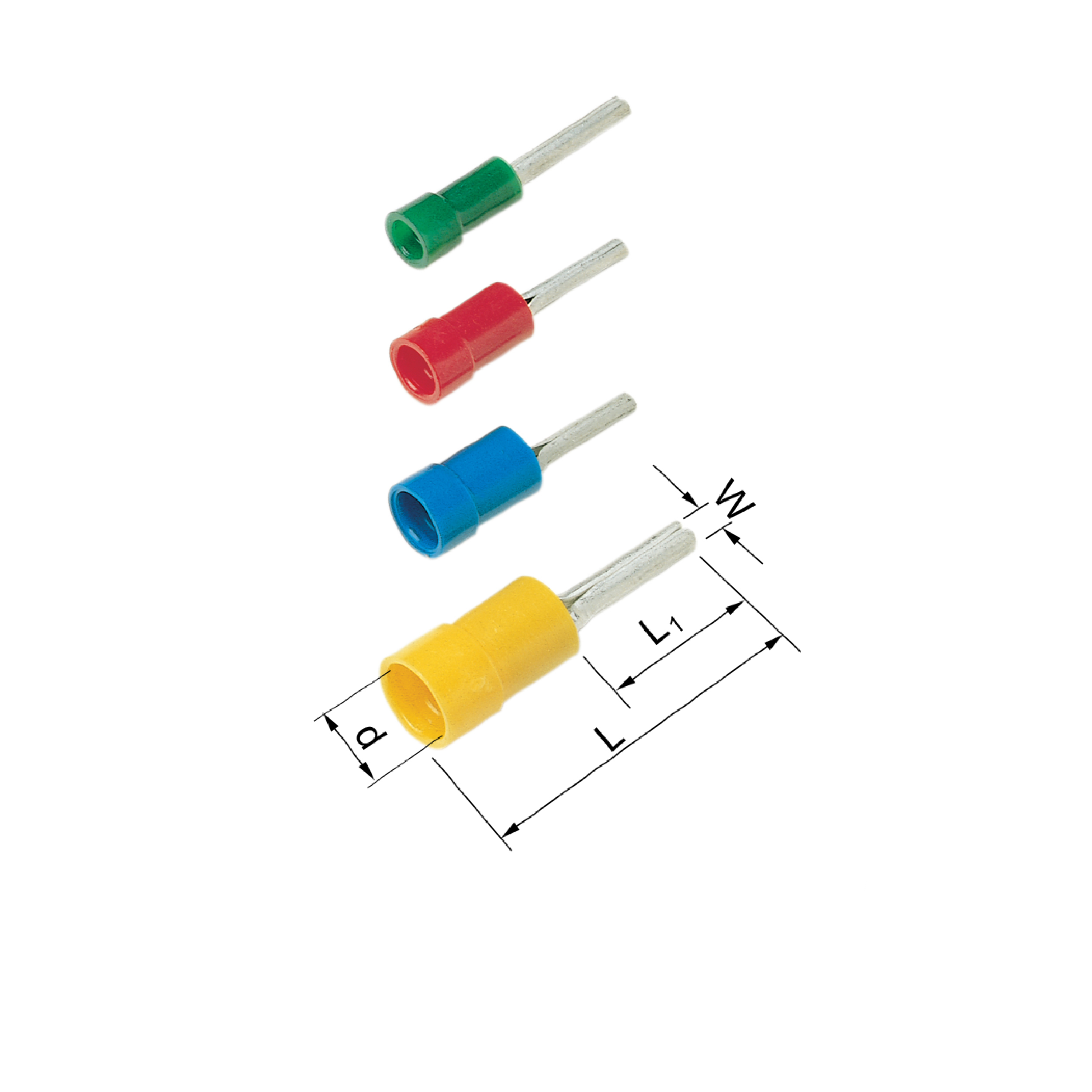 Elpress Pre-Insulated Pin Terminals - Halogen Free (0.1-6mm² )(A1519SR, A1519SRK, A2519SR, A4630SR)