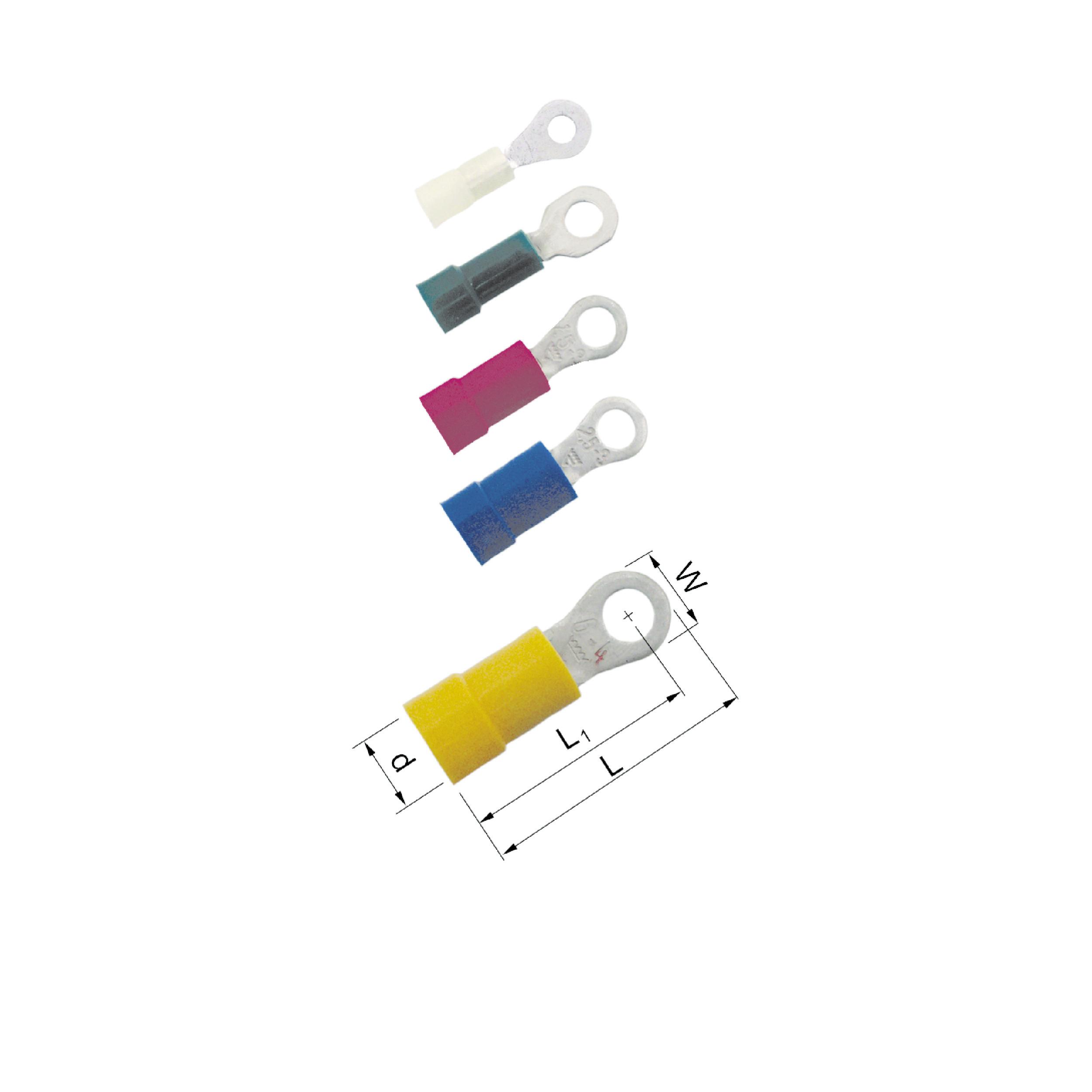 Elpress Pre-Insulated Ring Terminals - Halogen Free (0.1-6mm²)