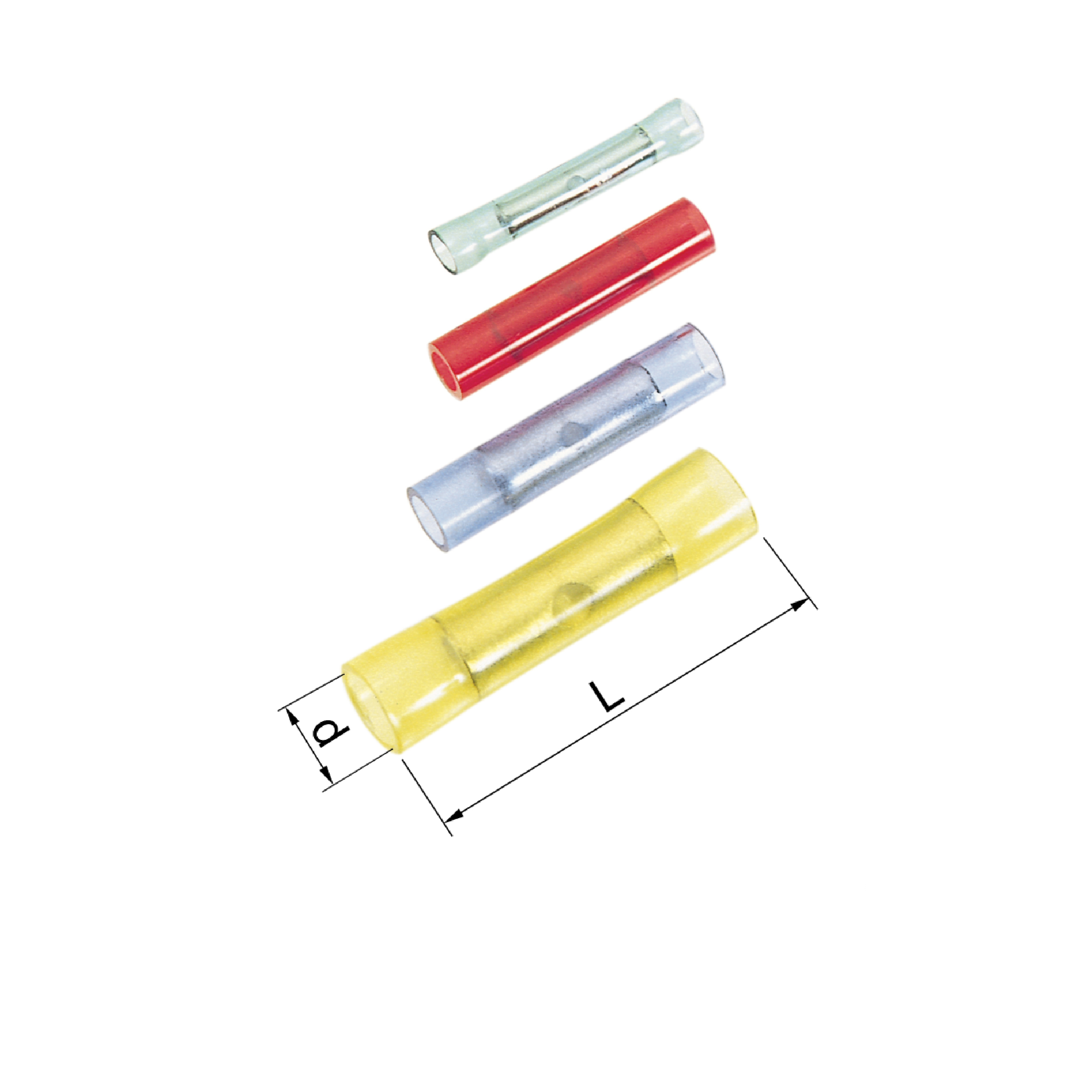 Elpress Pre-Insulated Through Connectors - Halogen Free (0.25-6mm²) A0824SK, A1525SK, A2527Sk, A4652SK