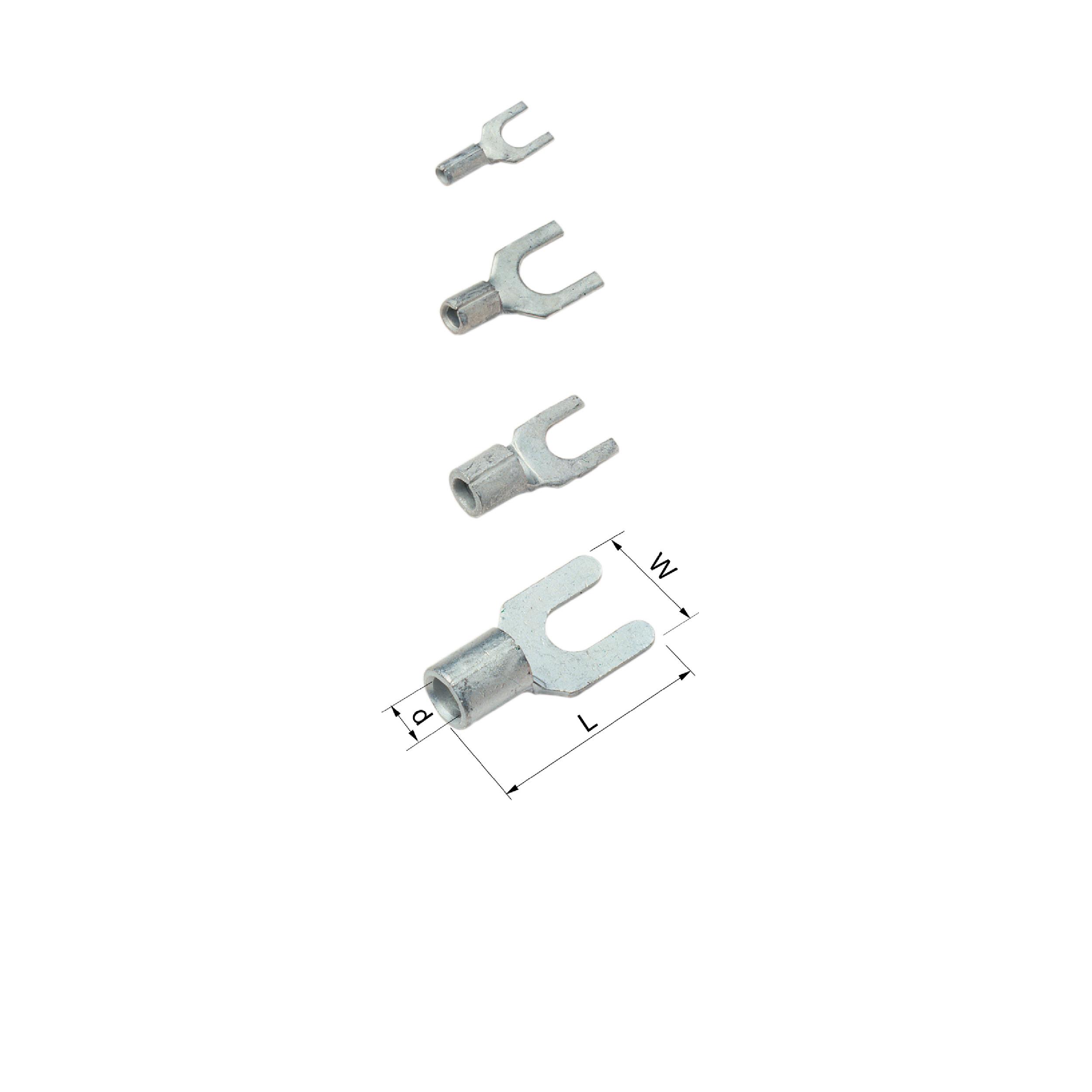 Elpress Un-Insulated Fork Terminals 0.25-10mm² B0832G, B0843G, B2543G, B9953G
