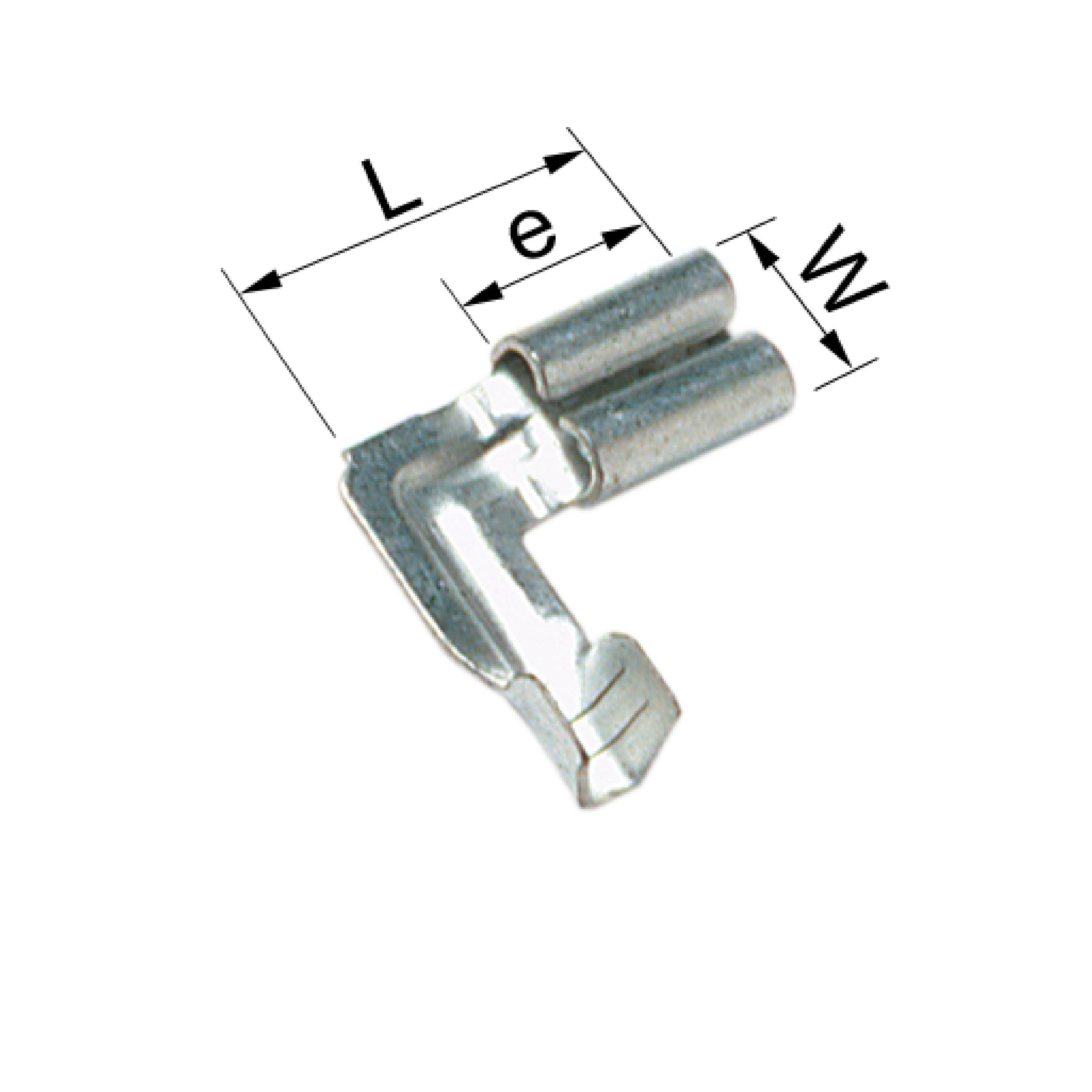 Elpress B1003FLSV5 Un-Insulated Receptacle 90° (0.5-1mm²)