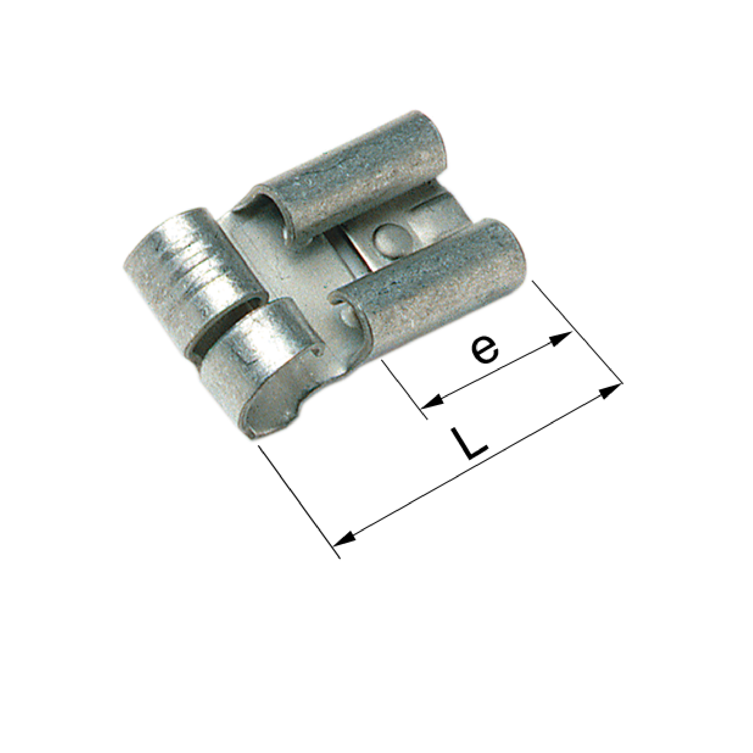 Elpress Un-Insulated Receptacle 90° 0.5-1.5mm²
