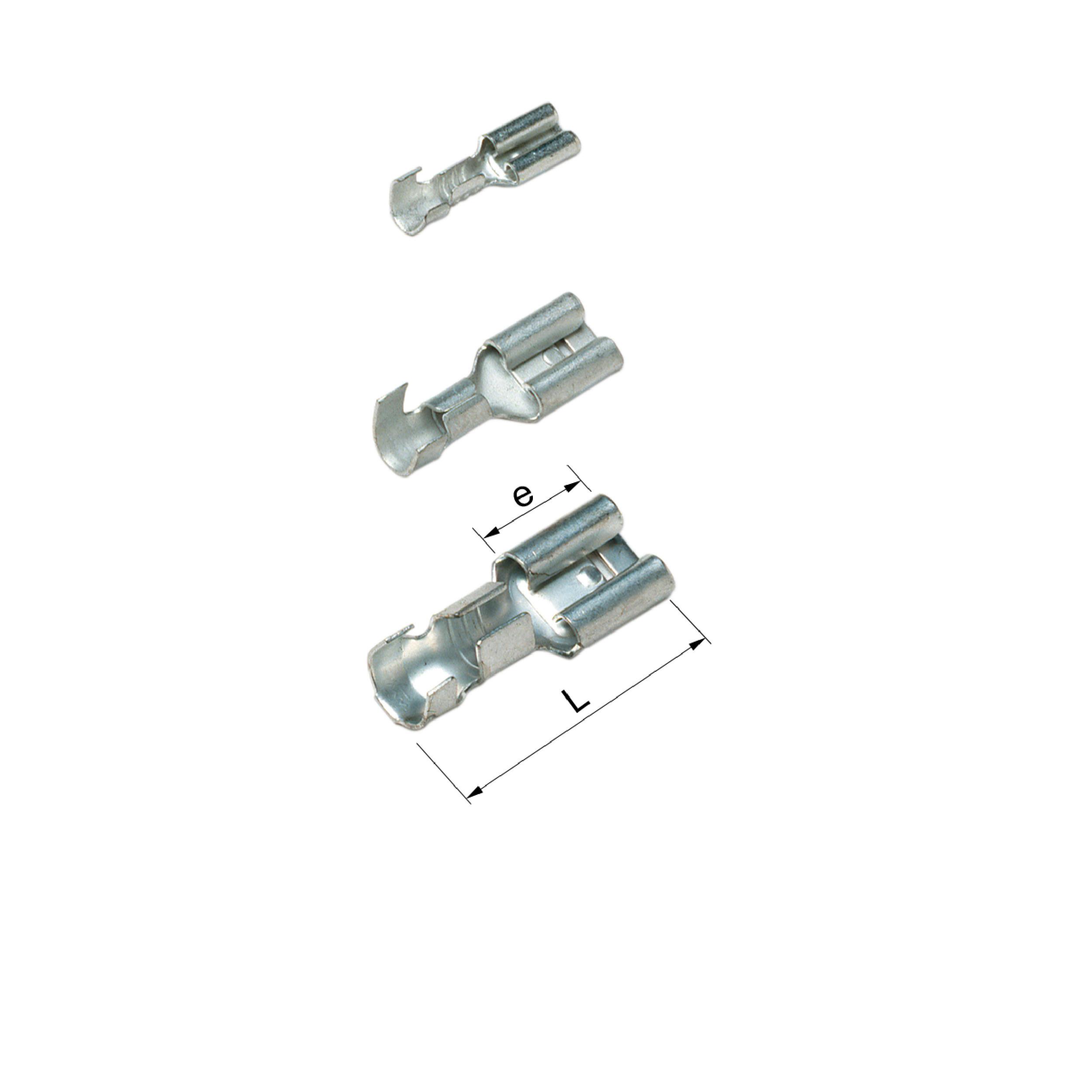 Elpress Un-Insulated Receptacles (Range 0.5-6mm²) Part Numbers: B1003FLS5, B1003FLS8, B1505FLS5-1, B1505FLS8-1, B1507FLS1, B2505FLS5, B2505FLS8, B2505FLS1, B4607FLS1