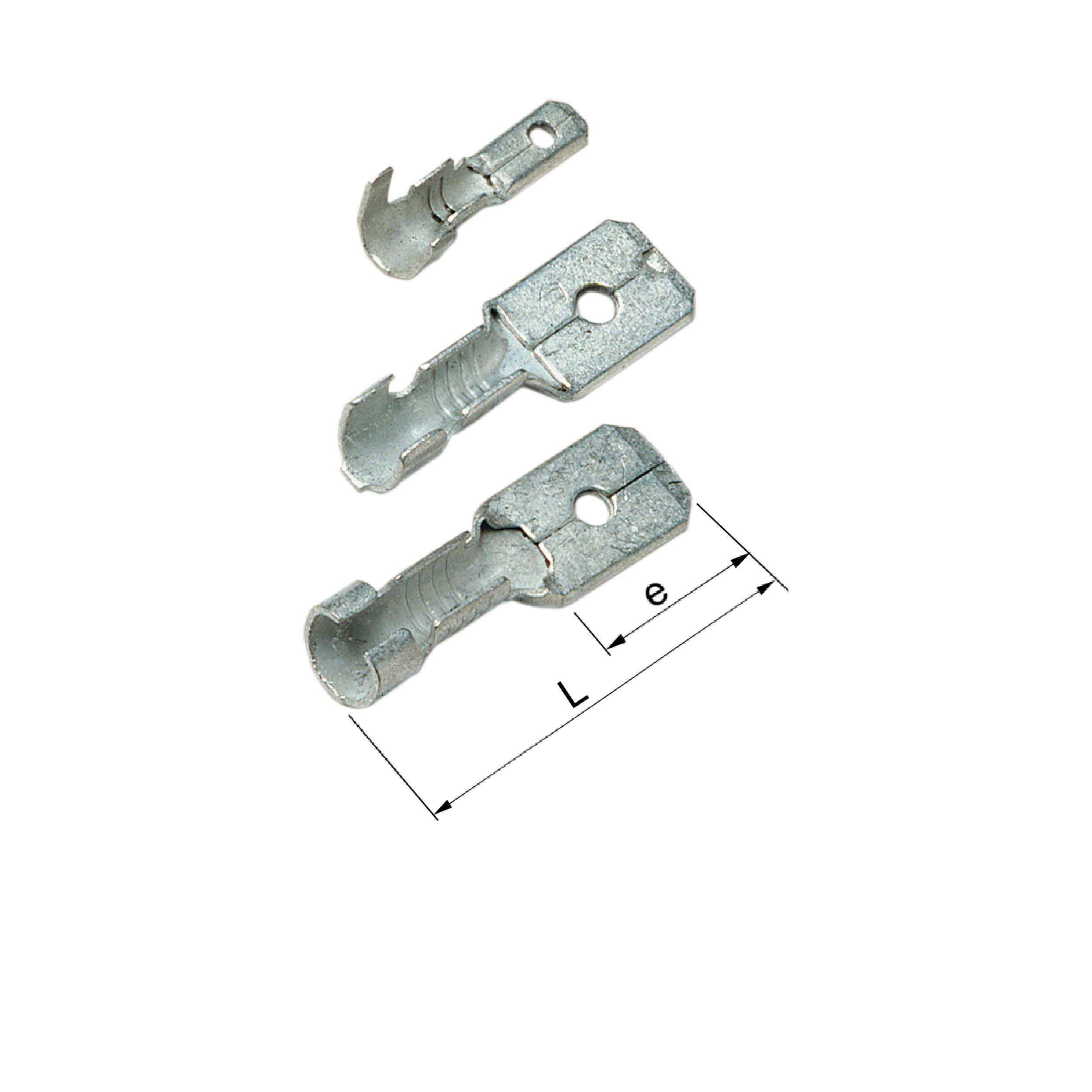 Elpress Un-Insulated Tabs (0.5-2.5mm²). Part Numbers: B1003H, B1507H, B2507H