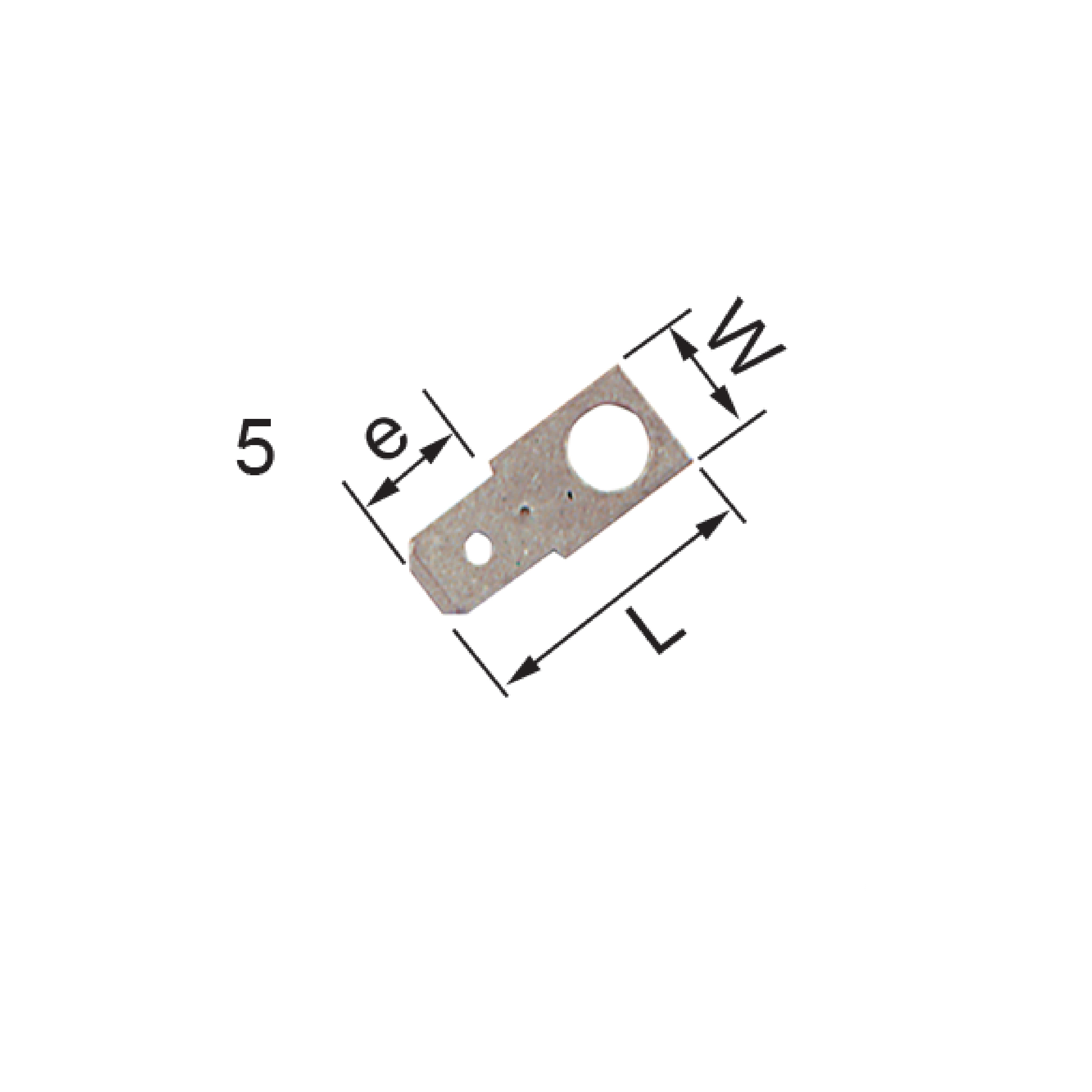 Elpress Un-Insulated Tabs 5 Part Numbers: B1807H4, B1807H5.