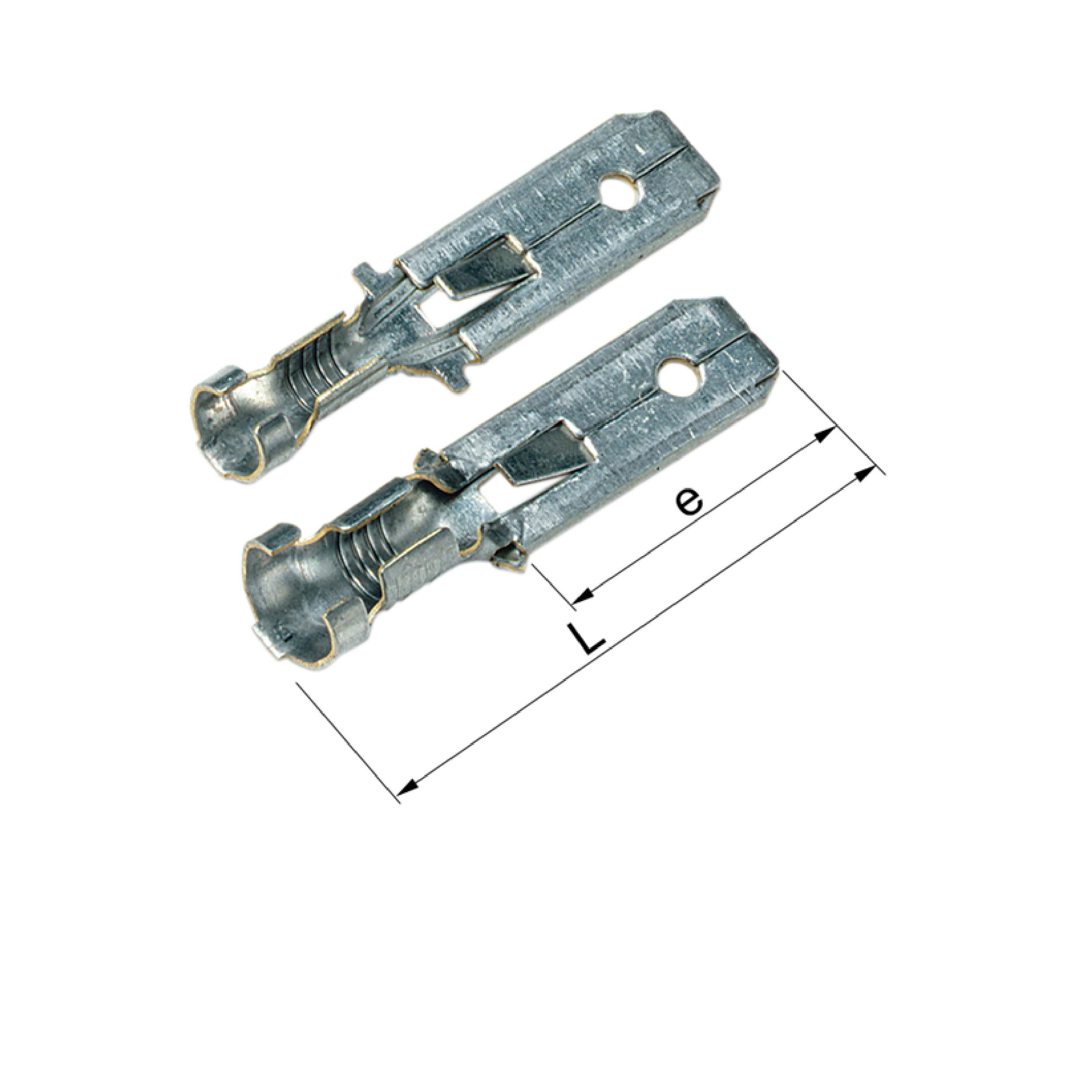Elpress Un-Insulated Tabs with locking lip B1007HN, B2507HN, B4607HN