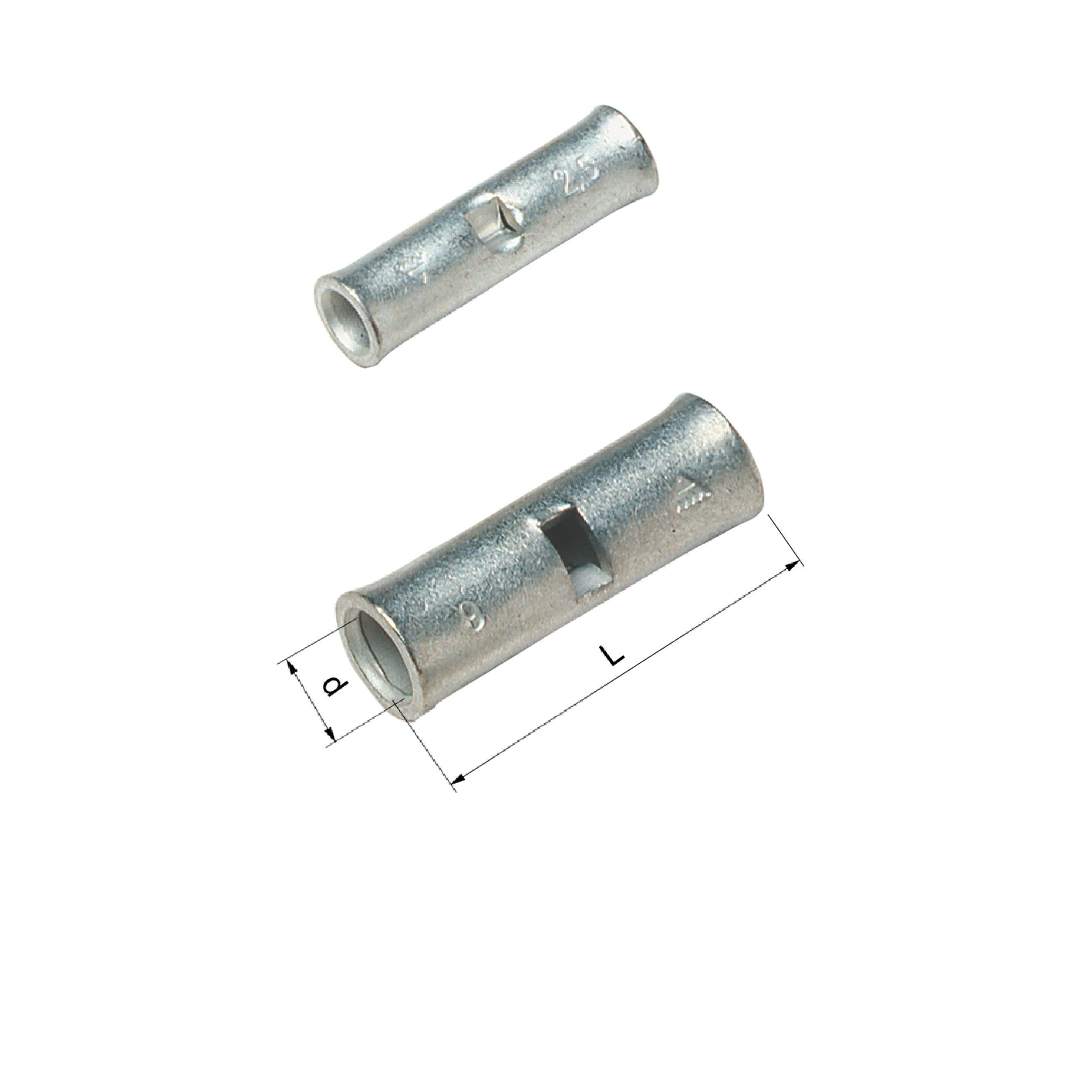 Elpress Un-Insulated Through Connectors (0.75-10mm²)
