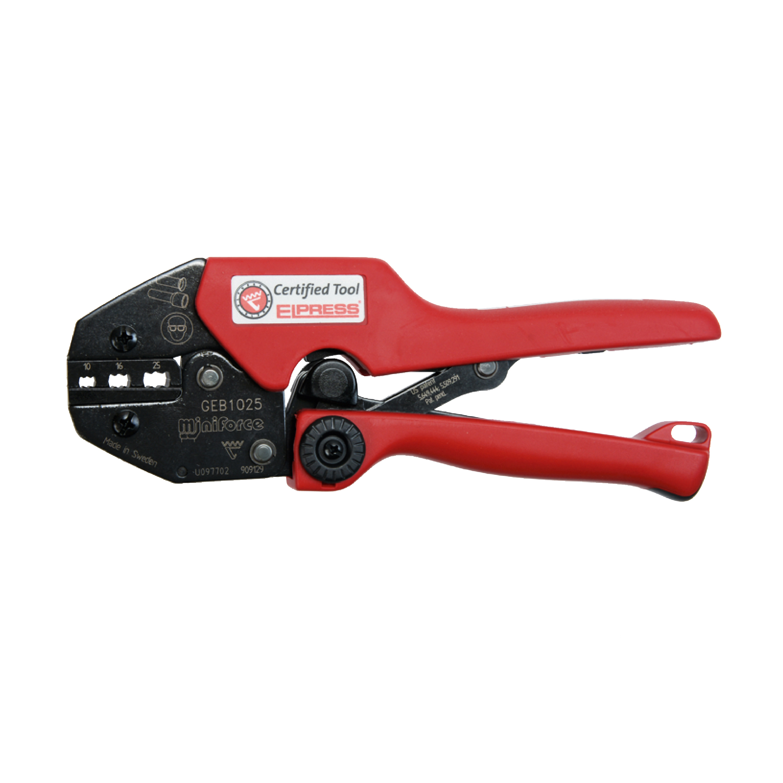 Elpress GEB1025 Miniforce Crimping Tool (10-25mm²)