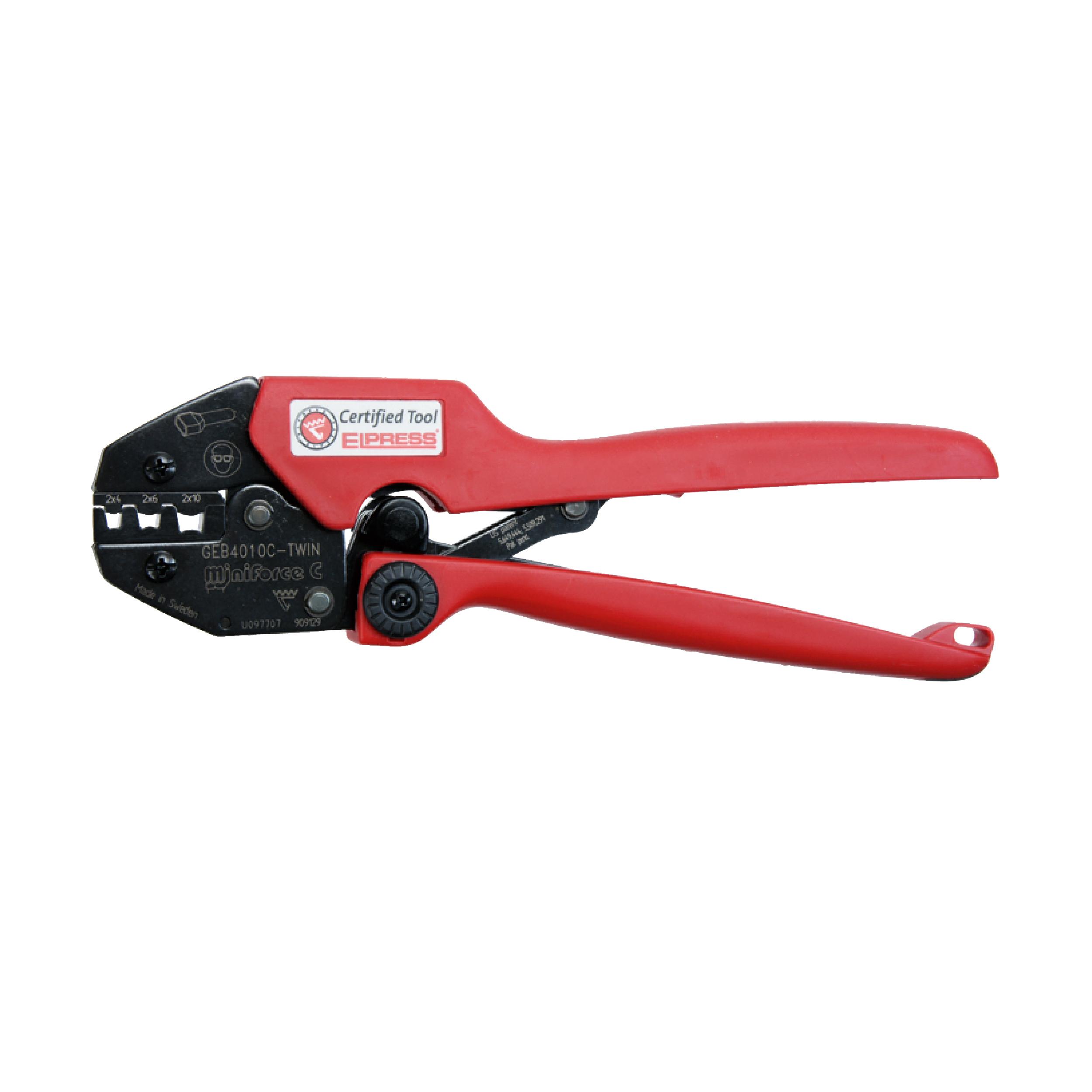 Elpress GEB4010C-TWIN Miniforce Crimping Tool (Range 4-10mm²)