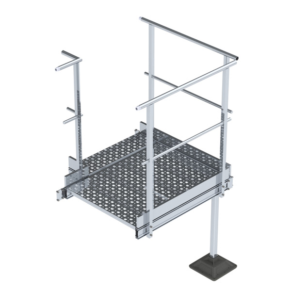 nVent CADDY Pyramid Step Over Bridge Turn Kit