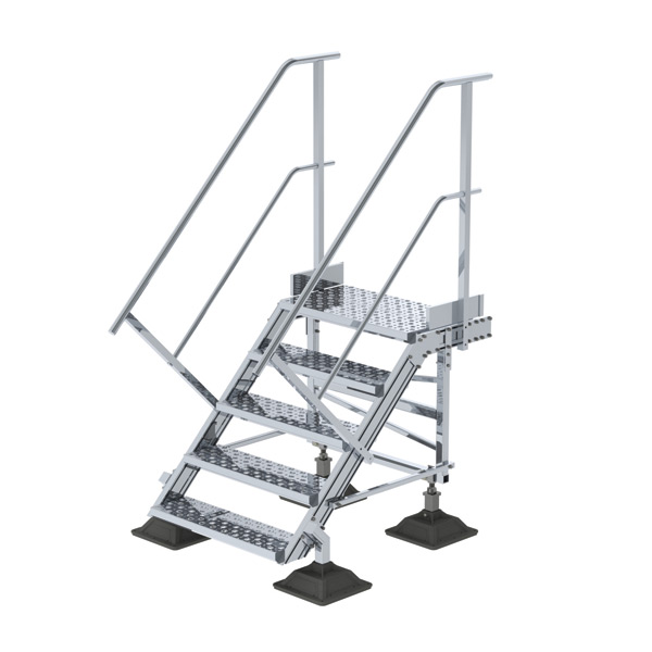 nVent CADDY Pyramid Step Over Ladder, 45°