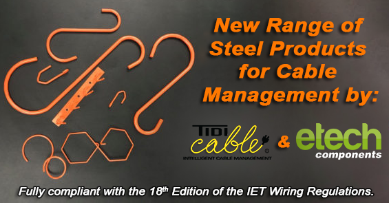 New Range O Metal Cable Supports & Fixings from Tidi-Cable