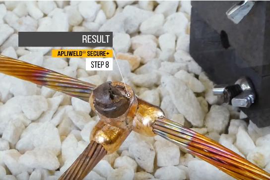 Apliweld Exothermic Welding Operating Procedure Step 8