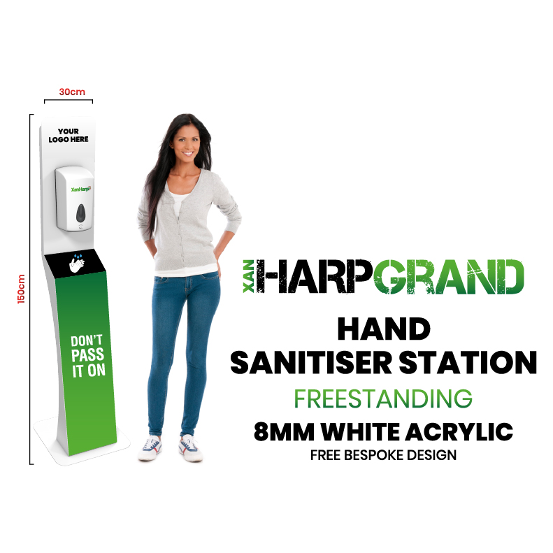 XanHarp Harpgrand Free Standing Automatic Hand Sanitiser Station (5ft)