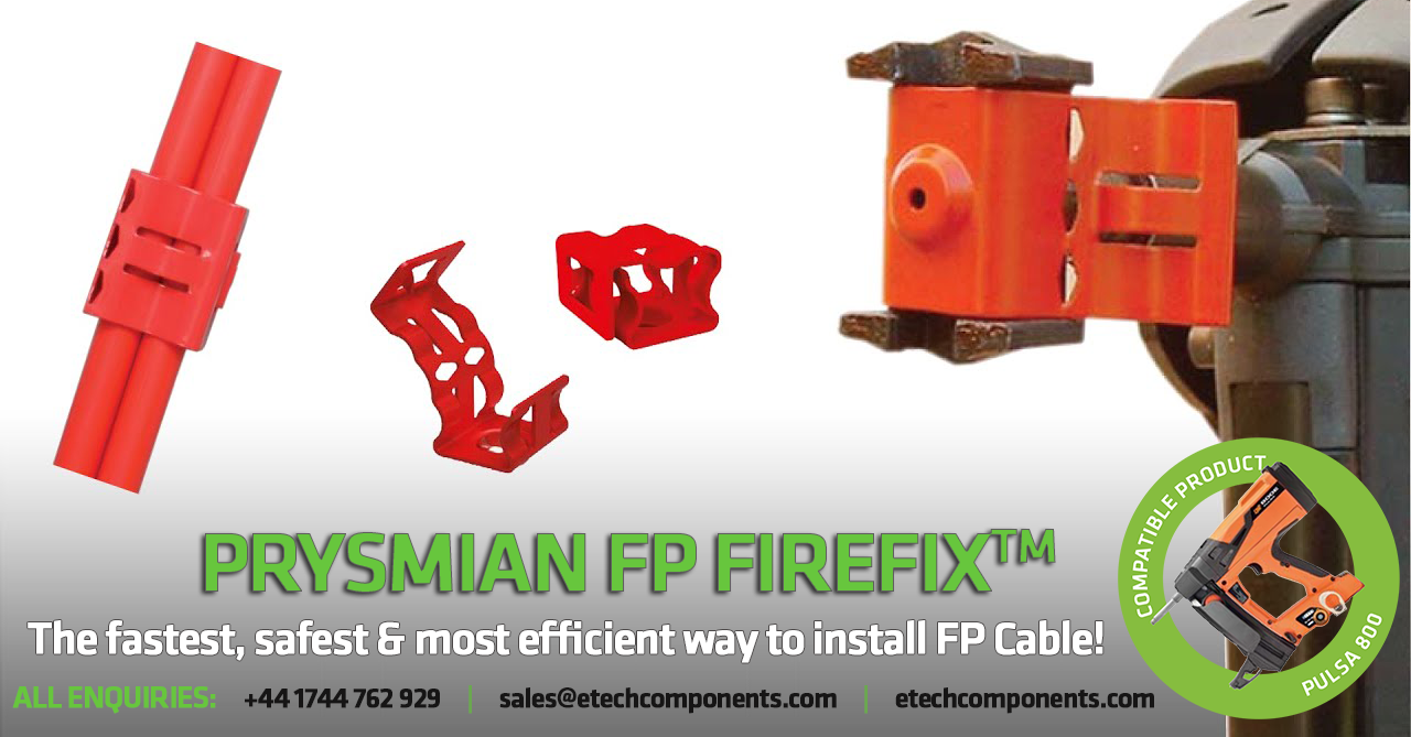 FP Firefix Clips for Rapid Installation of FP Cable