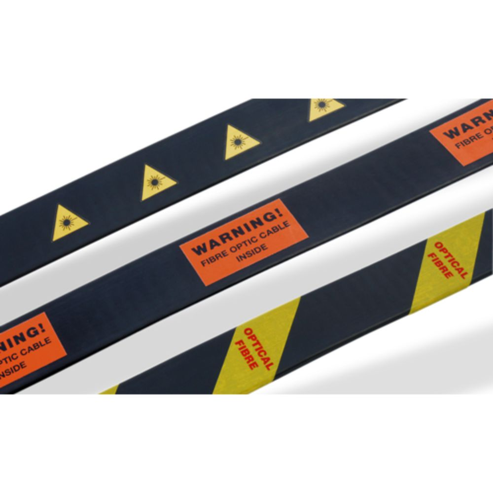 Silver Fox Optical Fibre Warning Labels (LHL20, OFT1, BFT/4)