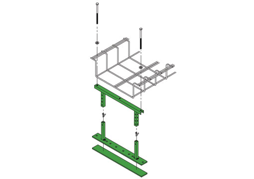 Cabinet Bracket cable tray brackets