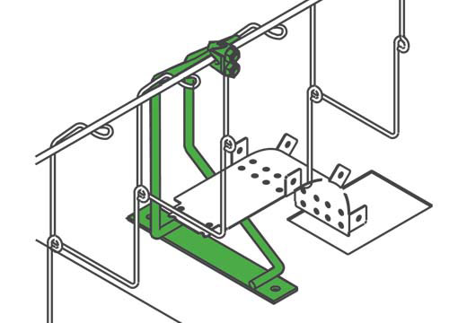 Cabinet Mount cable tray Bracket for 201 Series Single