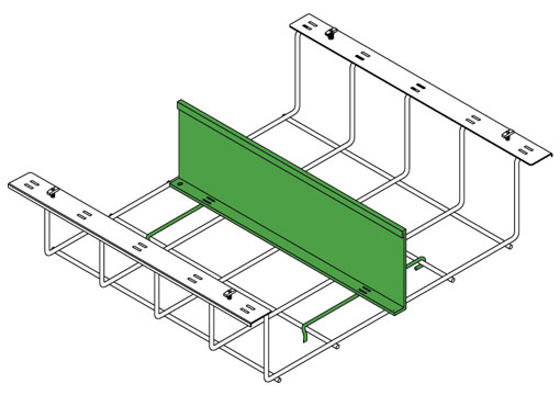 Snake Canyon Cantilever 301 Series - Accessories Divider Fence (CM 301-DG-2, CM 301-DG-6)